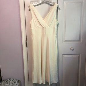 J CREW Silk Dress Sophia Ivory Tea Length